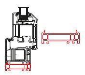Rahmenverbreiterung für PVC-Türen der Stärke 70mm (24 x 70mm) (Flexible Türmontage)