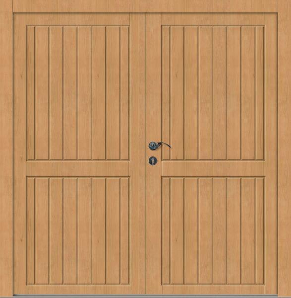 """Holz Nebeneingangstür """"JONAS"""" 62mm 2-flügelig Doppeltür symmetrisch (Schreiner-Qualität)"""