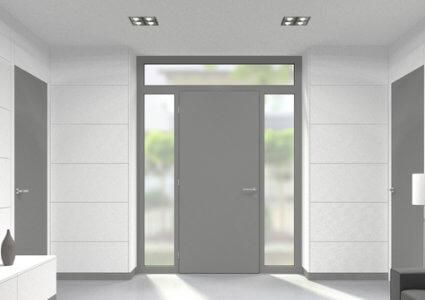 Aluminium Oberlicht für Türen der Stärke 78 mm