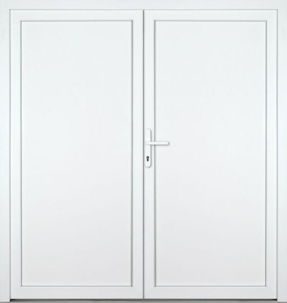"""Kunststoff-Aluminium Nebeneingangstür """"DIANA-M"""" 70mm 2-flügelig Doppeltür symmetrisch"""