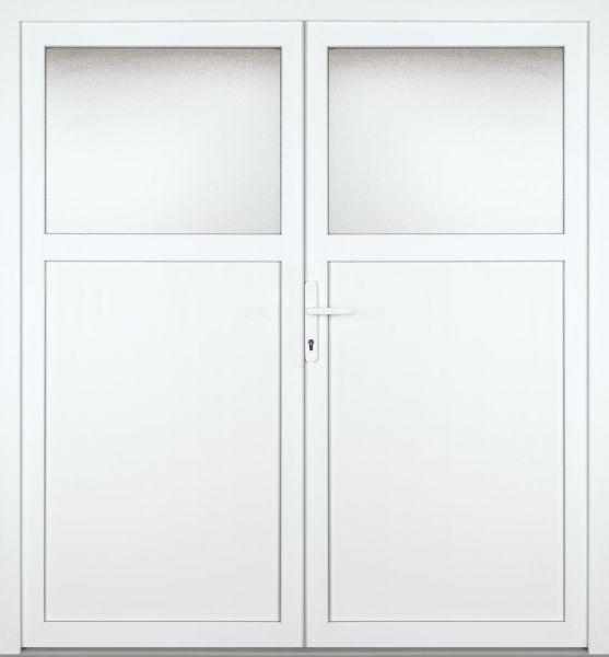 """Kunststoff Nebeneingangstür """"ANTONIA-M"""" 60mm 2-flügelig Doppeltür symmetrisch"""