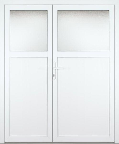 """Kunststoff Nebeneingangstür """"ANTONIA-M"""" 70mm 2-flügelig Doppeltür asymmetrisch"""