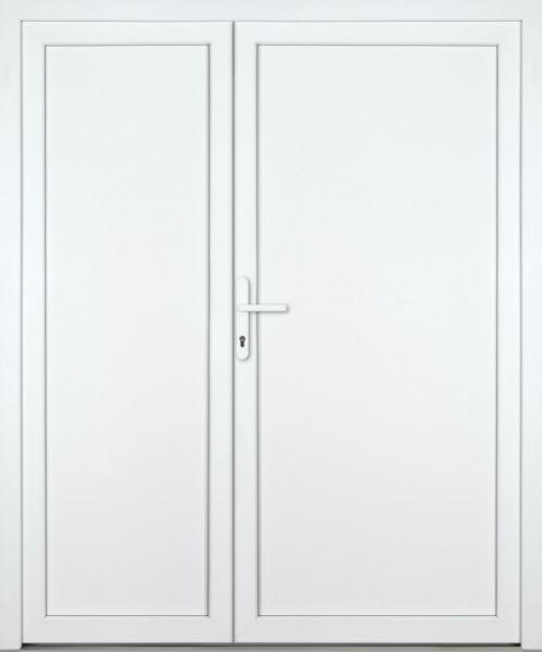 """Kunststoff Nebeneingangstür """"DIANA-M"""" 60mm 2-flügelig Doppeltür asymmetrisch"""