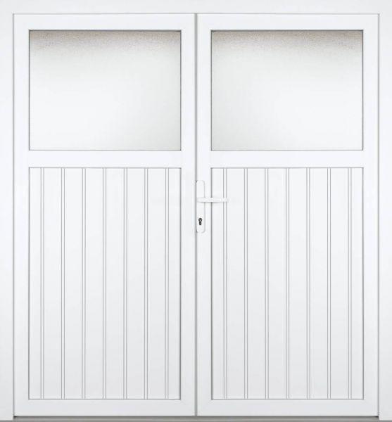 """Kunststoff Nebeneingangstür """"SANDRA"""" 60 mm 2-flügelig Doppeltür symmetrisch"""