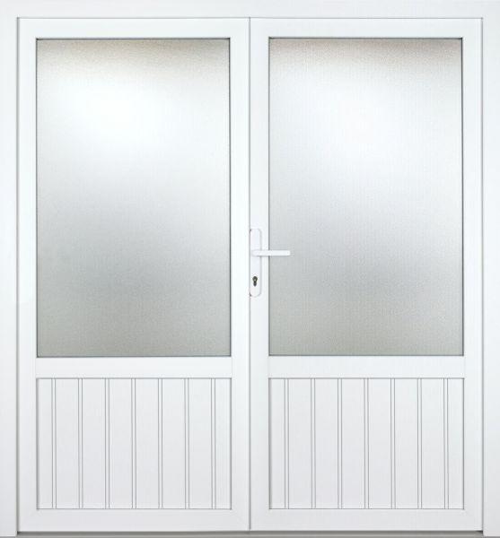 """Kunststoff Nebeneingangstür """"NICOLE"""" 70mm 2-flügelig Doppeltür symmetrisch"""