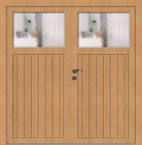 "Holz Nebeneingangstür ""JASPER"" 56mm 2-flügelig Doppeltür symmetrisch"